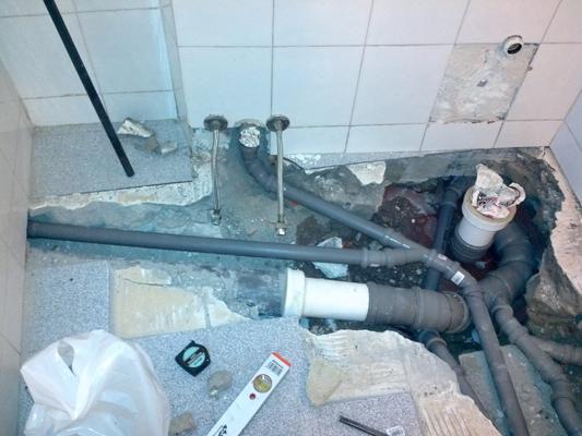 Durante impianto scarico nuovo progetto 1 bagno 2 sid - Impianto di scarico bagno ...